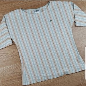 Lacoste Striped 3/4 Sleeve Shirt Sz 44 (12)